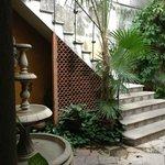 Courtyard/stairway.