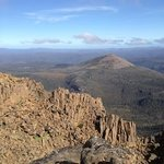 View looking south from the summit of Cradle Mountain.
