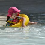 Our daughter enjoying the pool