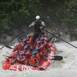 Rafts hold eight people