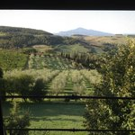 View from Quercialsale bedroom window