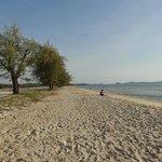il tratto di spiaggia libera