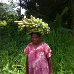 Lady with heavy load