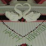 Honeymoon welcome