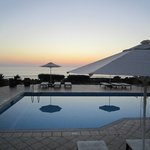 Wonderful sunset on Ionio Sea from swimpool.