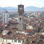 Panorama dal tetto della Torre Guinigi.