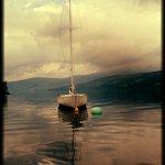 sailing boat on loch tay