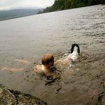 swimming in the loch