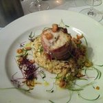 monkfish and risotto-yum!