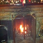 log fire-great after a long day walking!