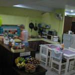 Kitchen area - with free fruit