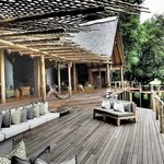 One of the decks overlooking Sabi river where you can have dinner / lunch / breakfast.