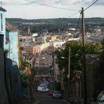 Big hill near hotel in Cork