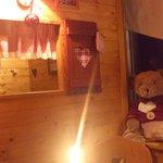Petite cabane en bois à l'intérieur !