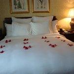 Petals on bed