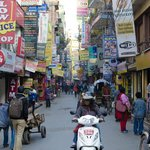 Thamel just outside the hotel