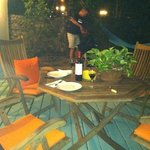 barbecuing on our private patio with hammock in background