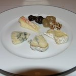 French cheese platter at the end
