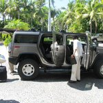 Hummer transportation is a must!