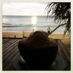 Before sunset / coconut juice