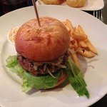 blue cheese and bacon burger