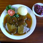 Sauerbraten with Dumpling and Red Cabbage