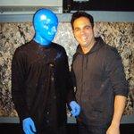 Eu e o Blue Man