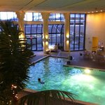 Nice clean heated pool with whirlpool.