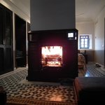 Winter warmer log fire in our suite
