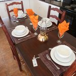 Dining table and set up in Steenbok cottage