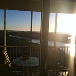 Sunrise view from the living room
