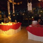 Sala buffet aperitivo e dolci Capodanno