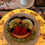 How fun ---- my breakfast fruit plate!