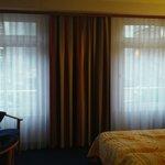 Big windows, room was nice and bright