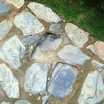 Uneven stone walkway