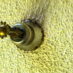 mold and rust around the fire sprinklers