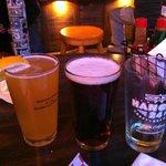 Hangar 24 light and dark orange beer. A local delight!