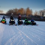 Snowmobiling is right out our Front Door