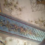 Detail of affrescoed ceiling in the lounge