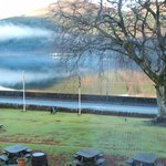 View of Loch Long from our room.