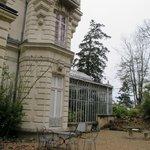 Back of Chateau Bouvet Ludabay and atrium