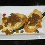 Brie Toast with Chardonnay Soaked Raisins