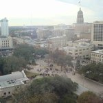 view from 1204. alamo is lower left