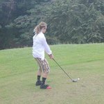 Beauty golf attire