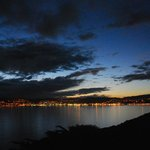 View back to Wellington from Matiu/Somes island at dusk