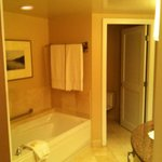 Large bathroom with separate toilet