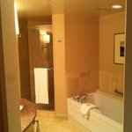 Large bathroom with separate shower