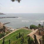 Vista do mar da ponta do Barranco