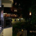 varanda do apto c/ vista p/ o hotel