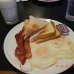 basic with bacon toast